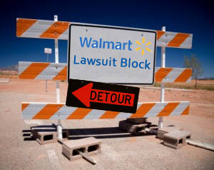 Walmart Lawsuit Block Detour